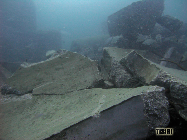 Broken reef concrete